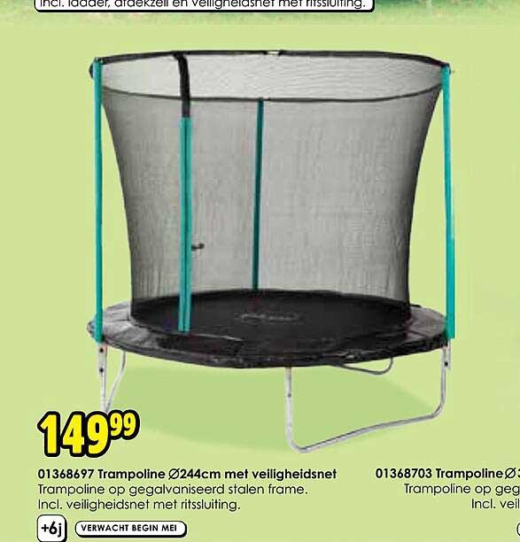 Toychamp 01368697 Trampoline Ø244cm Met Veiligheidsnet