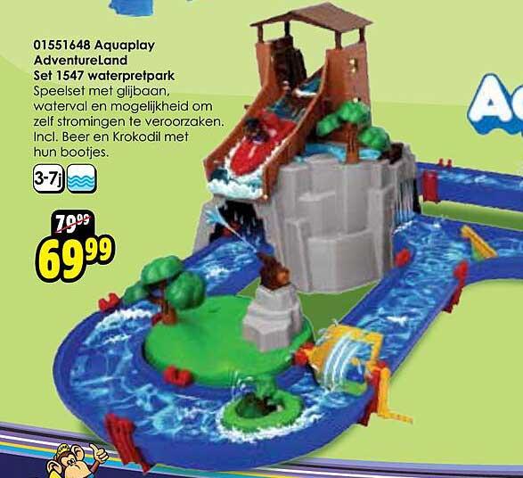 Toychamp 01551648 Aquaplay Adventureland Set 1547 Waterpretpark