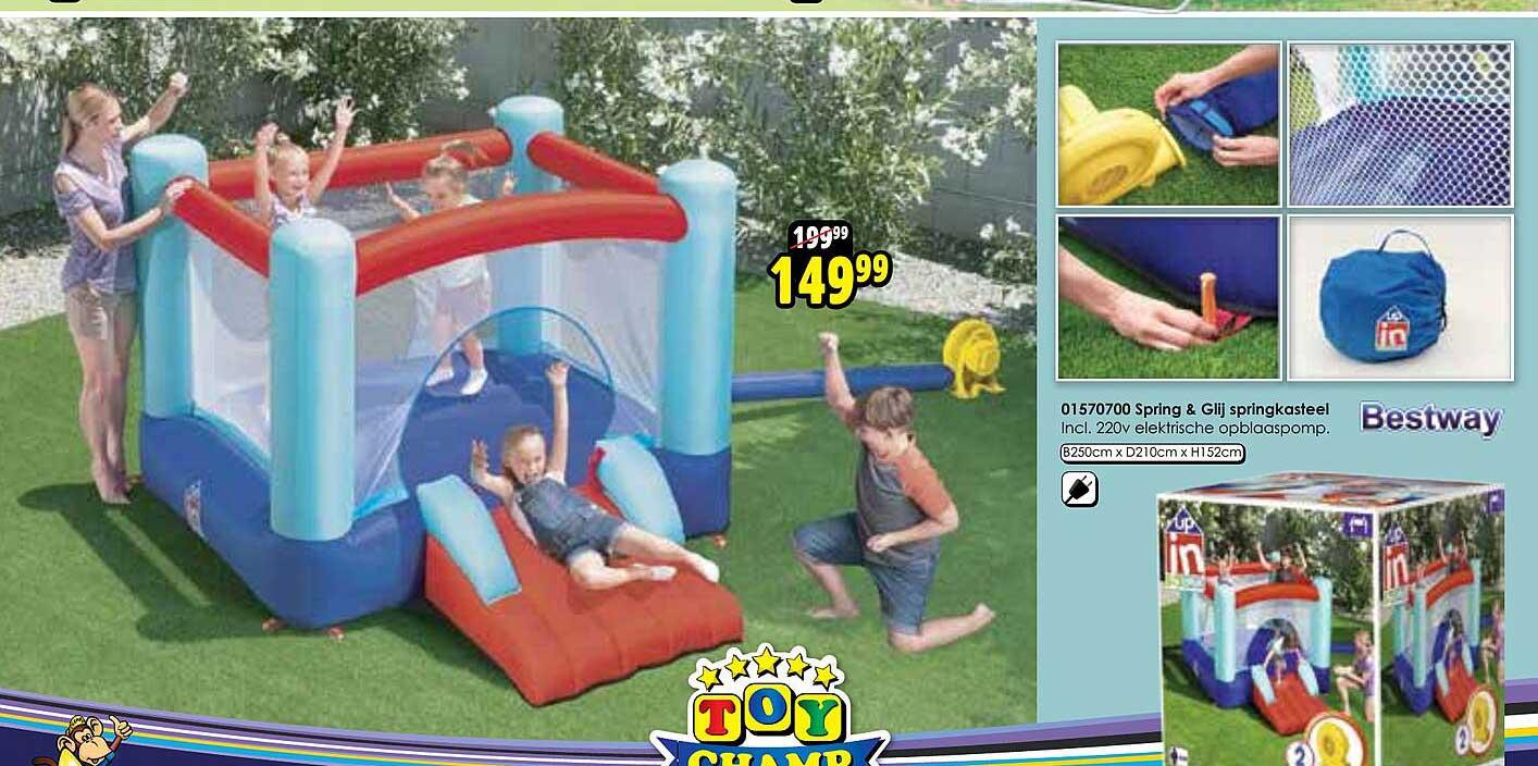 Toychamp 01570700 Spring & Glij Springkasteel