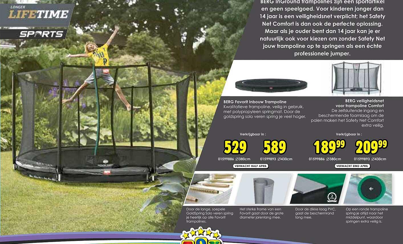 Toychamp Berg Favorit Inbouw Trampoline Of Berg Veiligheidsnet Voor Trampoline Comfort