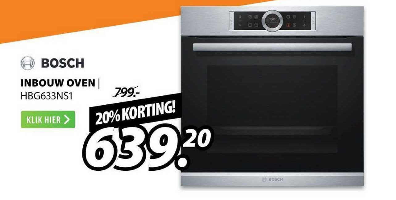 Expert Bosch Inbouw Oven | HBG633NS1 20% Korting