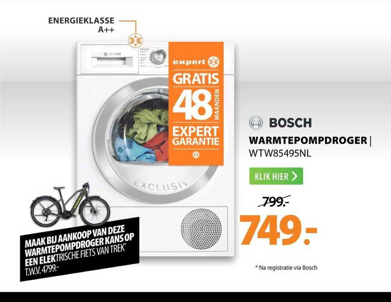 Expert Bosch Warmtepompdroger | WTW85495NL