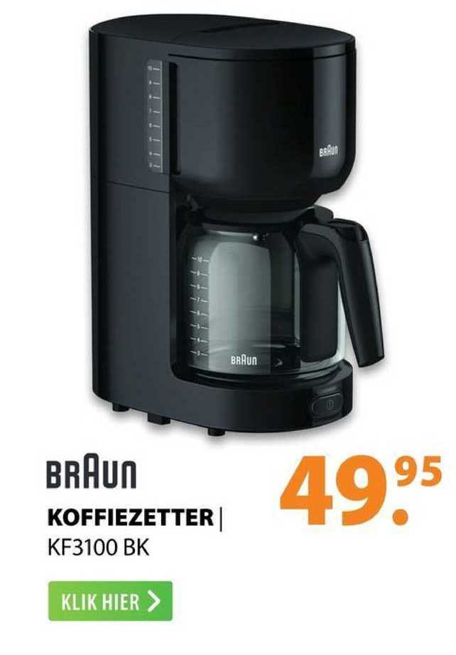 Expert Braun Koffiezetter | KF3100 BK