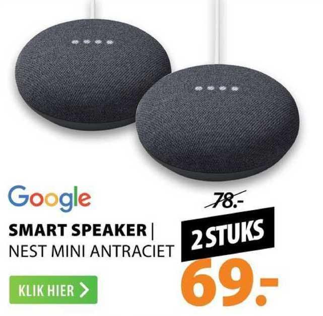 Expert Google Smart Speaker | Nest Mini Antraciet