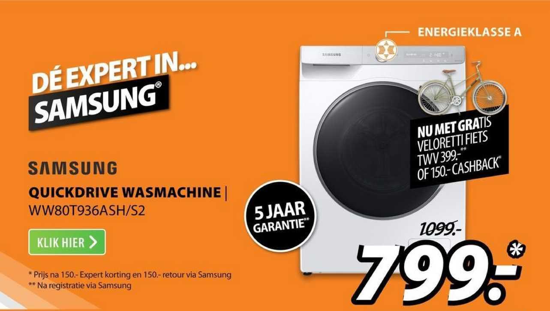 Expert Samsung Quickdrive Wasmachine