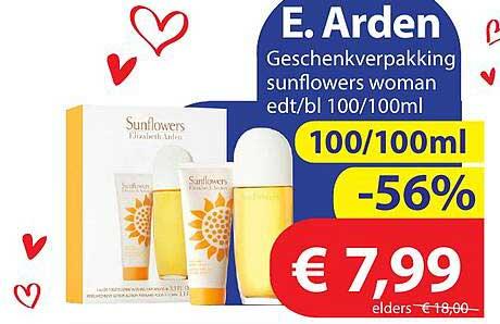 Die Grenze E. Arden Geschenkverpakking Sunflowers Woman Edt-bl 100-100ml