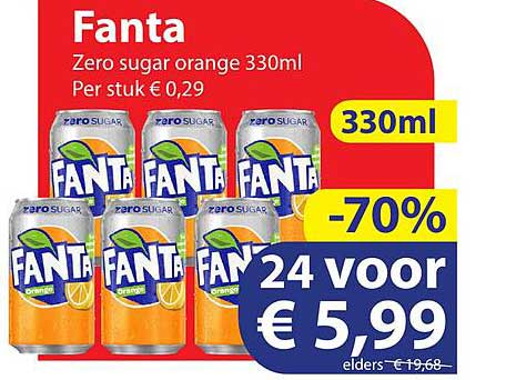 Die Grenze Fanta Zero Sugar Orange 330ml