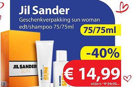 Die Grenze Jil Sander Geschenkverpakking Sun Woman Edt-Shampoo 75-75ml