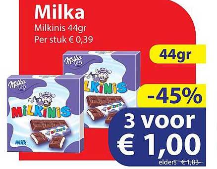 Die Grenze Milka Milkinis 44gr