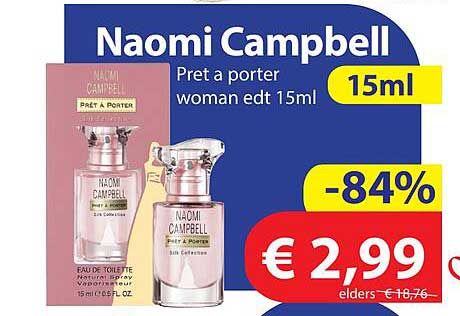 Die Grenze Naomi Campbell Pret A Porter Woman Edt 15 Ml