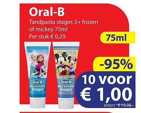 Die Grenze Oral-B Tandpasta Stages 3+ Frozen Of Mickey 75ml