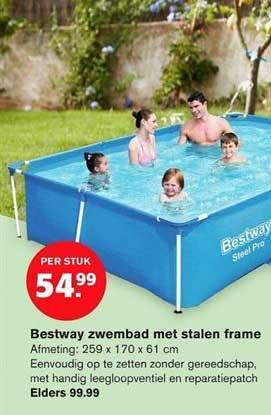 Hoogvliet Bestway Zwembad Met Stalen Frame