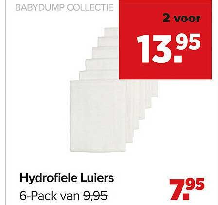 Baby-Dump Babydump Collectie Hydrofiele Luiers 6-Pack