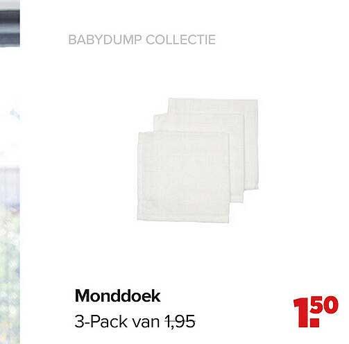 Baby-Dump Babydump Collectie Monddoek 3-Pack