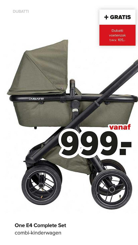 Baby-Dump Dubatti One E4 Complete Set Combi-Kinderwagen