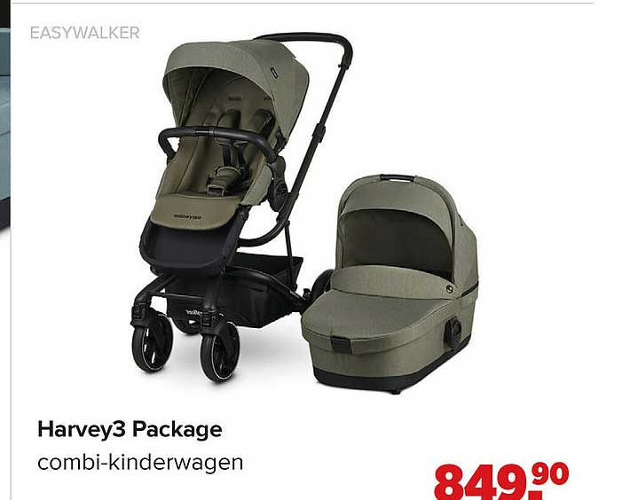 Baby-Dump Easywalker Harvey3 Package Combi-Kinderwagen