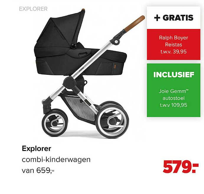 Baby-Dump Explorer Combi-Kinderwagen