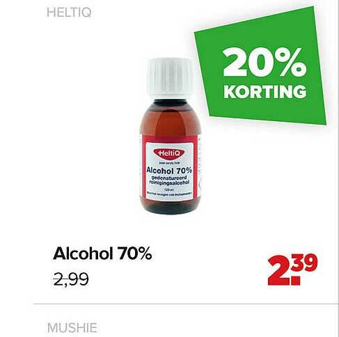 Baby-Dump Heltiq Alcohol 70% 20% Korting