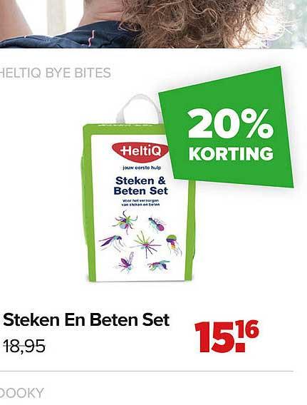 Baby-Dump Heltiq Bye Bites Steken En Beten Set 20% Korting