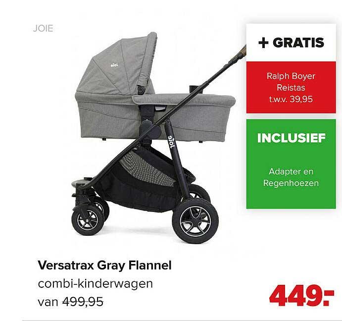 Baby-Dump Joie Versatrax Gray Flannel Combi-Kinderwagen