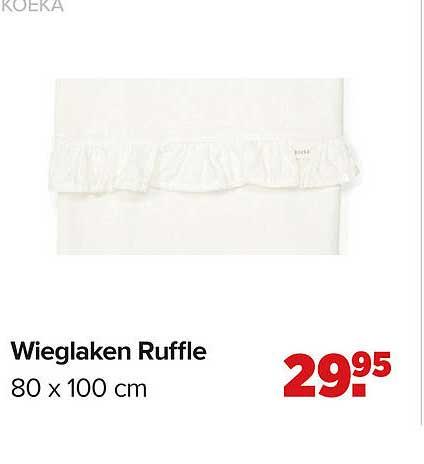 Baby-Dump Koeka Wieglaken Ruffle 80 X 100 Cm