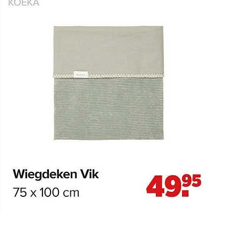 Baby-Dump Koeke Wiegdeken Vik 75 X 100 Cm
