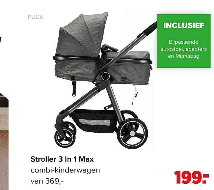 Baby-Dump Puck Stroller 3 In 1 Max