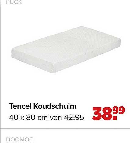Baby-Dump Puck Tencel Koudschuim 40 X 80 Cm