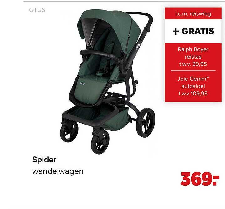 Baby-Dump Qtus Spider Wandelwagen