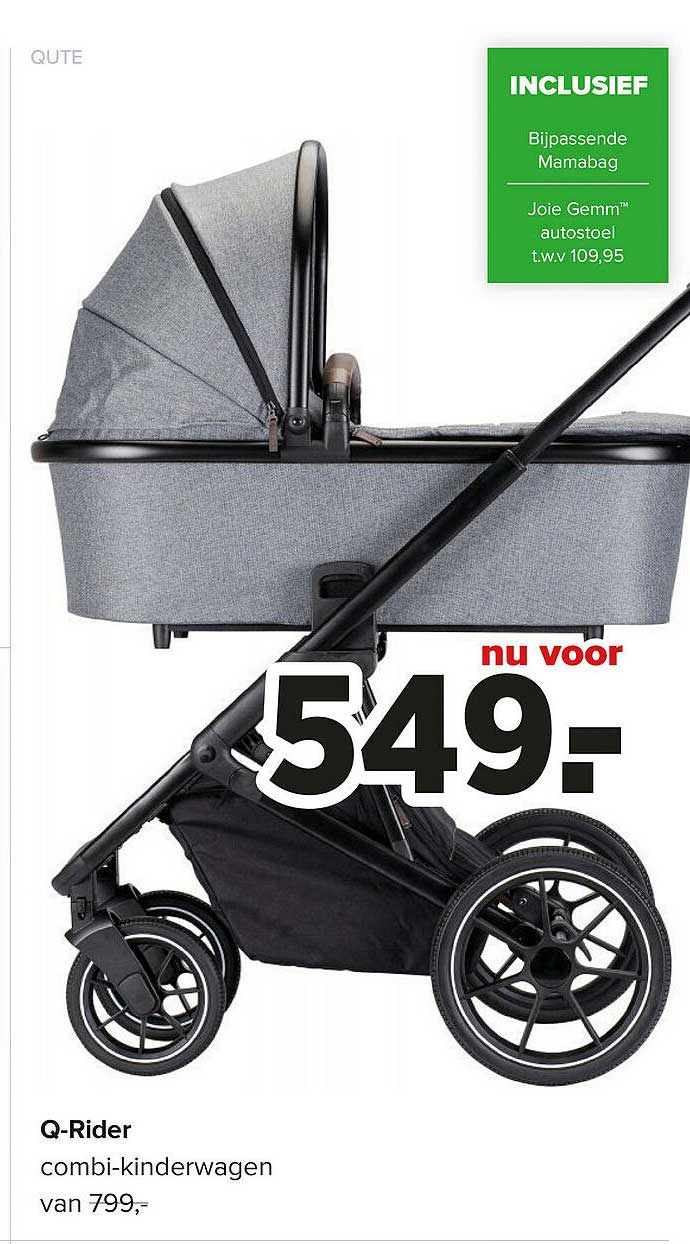 Baby-Dump Qute Q-Rider Combi-Kinderwagen