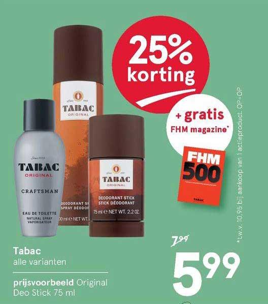 Etos Tabac Original Deo Stick 25% Korting