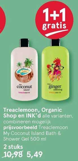 Etos Treaclemoon, Organic Shop En Ink'd 1+1 Gratis