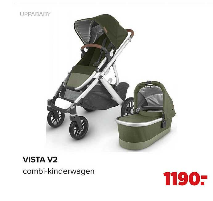 Baby-Dump Uppababy Vista V2 Combi-Kinderwagen