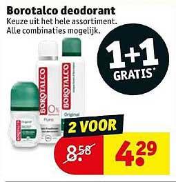 Kruidvat Borotalco Deodorant: 1+1 Gratis