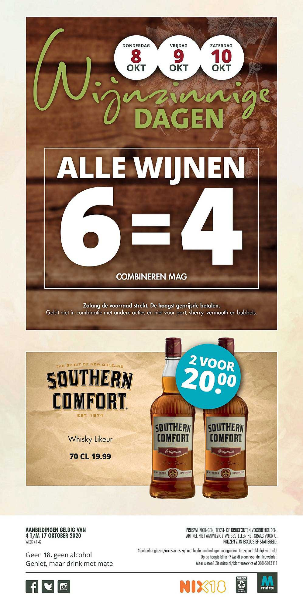 Mitra Southern Comfort Whisky Likeur