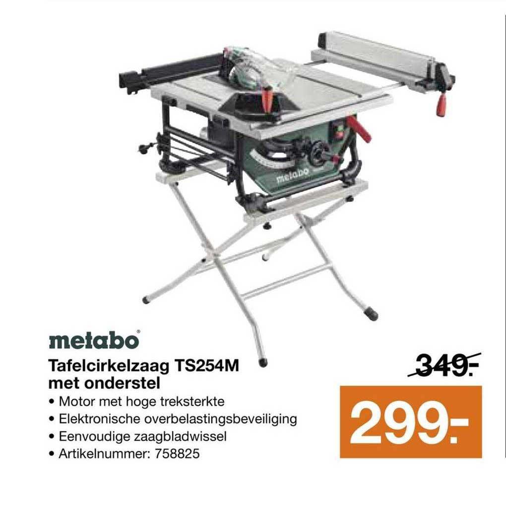 Bouwmaat Metabo Tafelcirkelzaag TS254M Met Onderstel