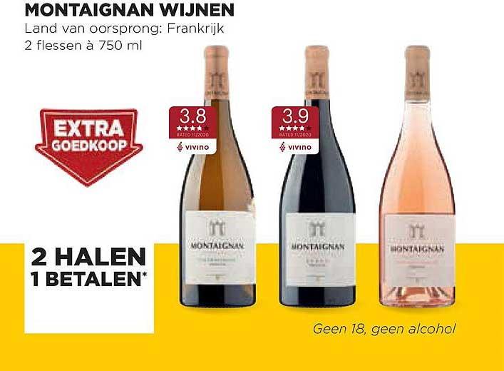 Jumbo Foodmarkt Montaignan Wijnen: 2 Halen 1 Betalen