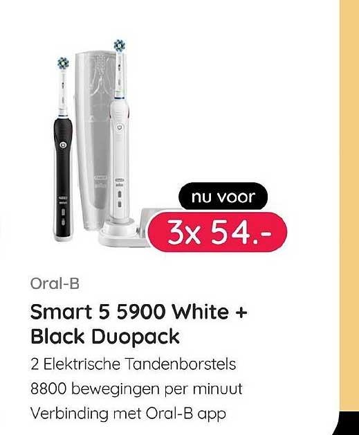 Kijkshop Oral-B Smart 5 5900 White + Black Duopack