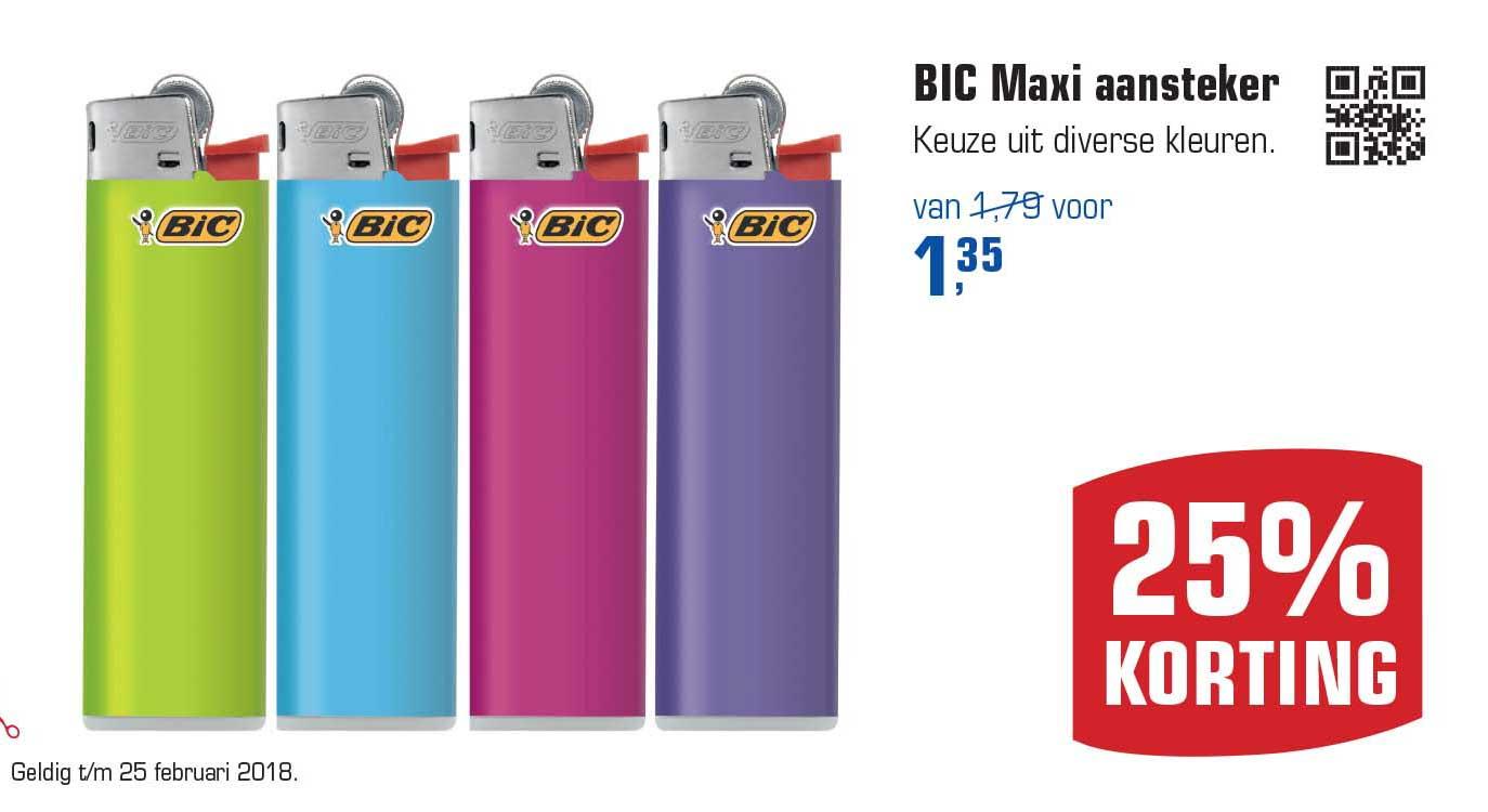 Primera BIC Maxi Aansteker: 25% Korting