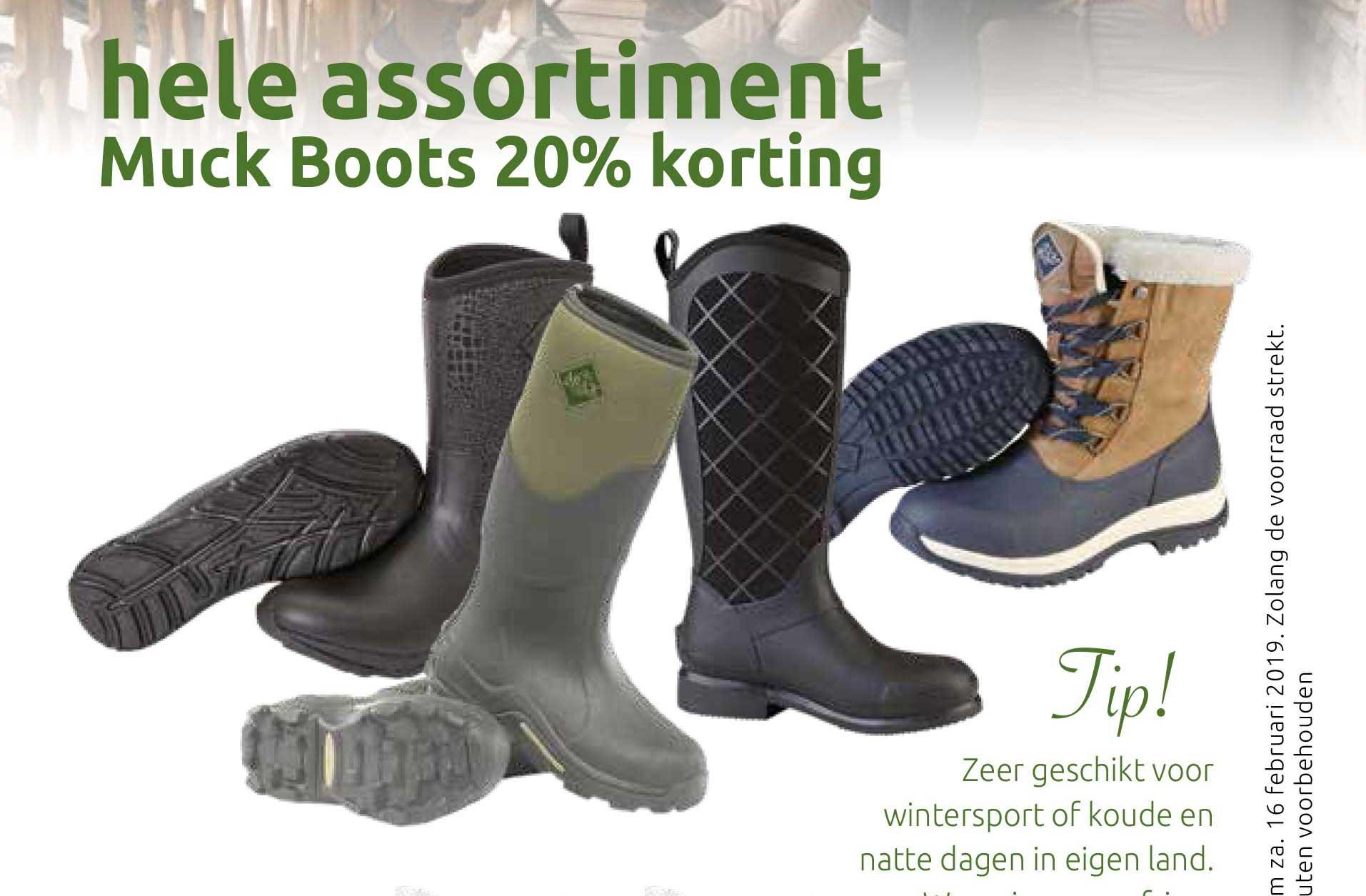 DekaTuin Hele Assortiment Muck Boots: 20% Korting