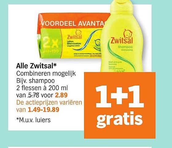 Albert Heijn Alle Zwitsal: 1+1 Gratis