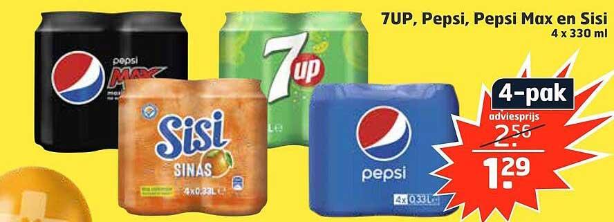Trekpleister 7UP, Pepsi, Pepsi Max En Sisi