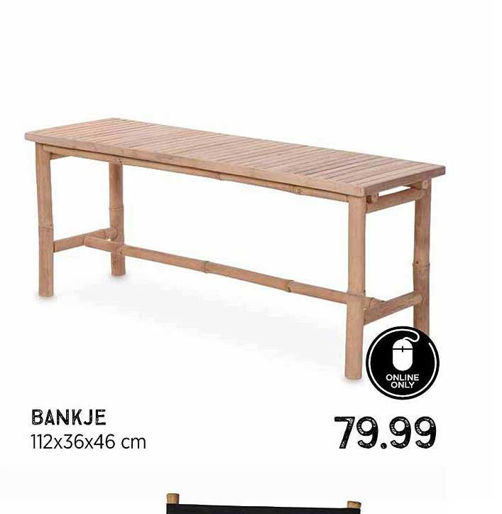 Xenos Bankje 112x36x46 Cm