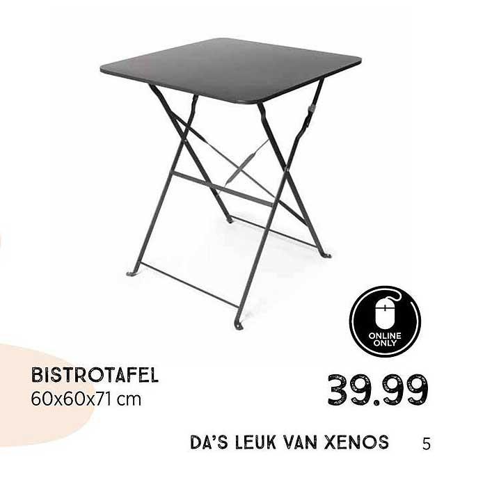 Xenos Bistrotafel 60x60x71 Cm