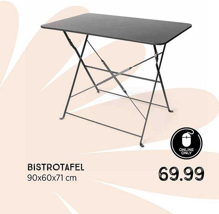 Xenos Bistrotafel 90x60x71 Cm