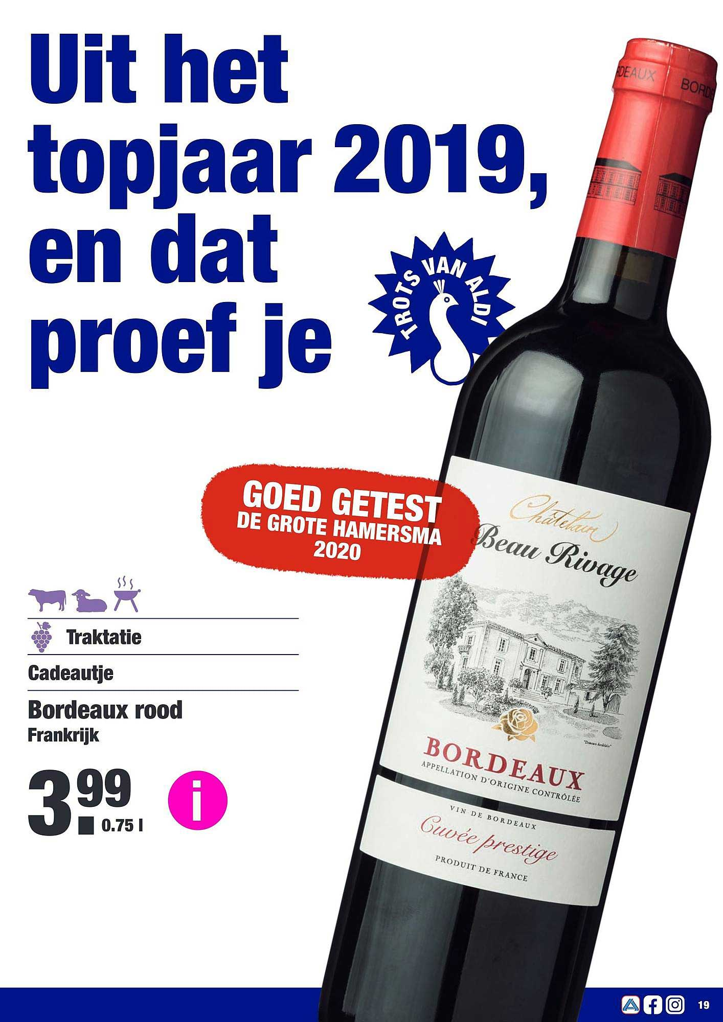 ALDI Bordeaux Rood