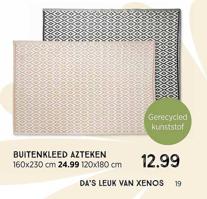 Xenos Buitenkleed Azteken 160x230 Cm Of 120x180 Cm