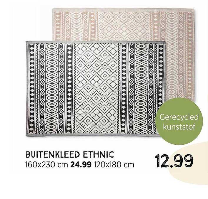 Xenos Buitenkleed Ethnic 160x230 Cm Of 120x180 Cm