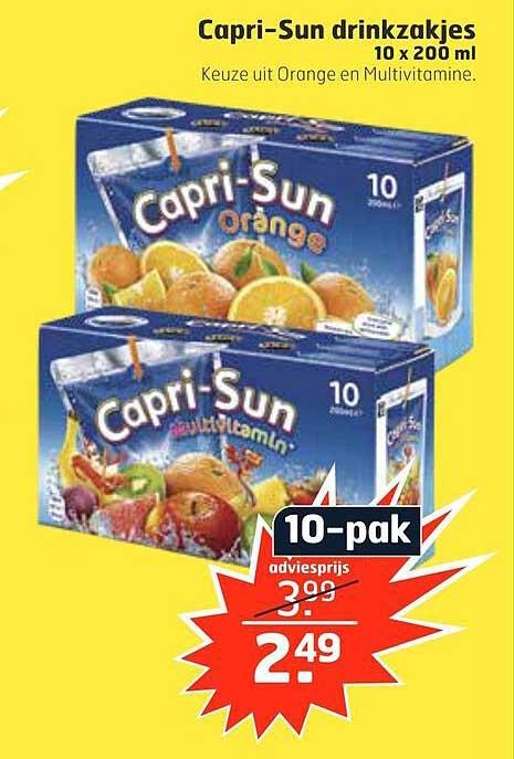 Trekpleister Capri-Sun Drinkzakjes