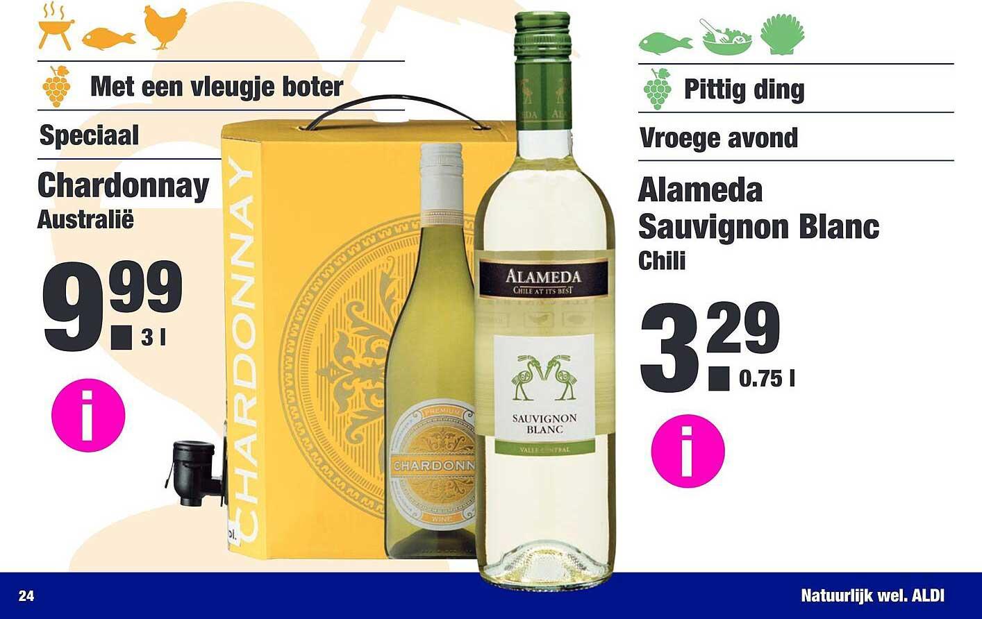 ALDI Chardonnay En Alameda Sauvignon Blanc
